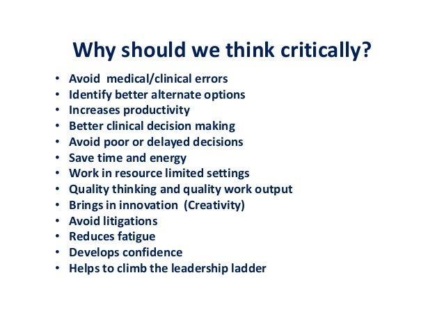 practice critical thinking