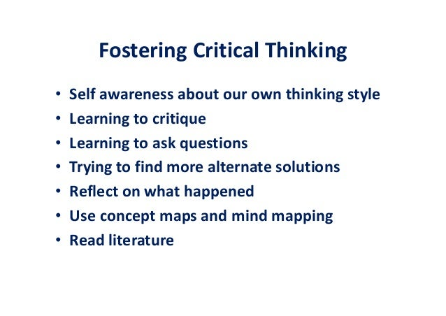 evaluating critical thinking in clinical practice