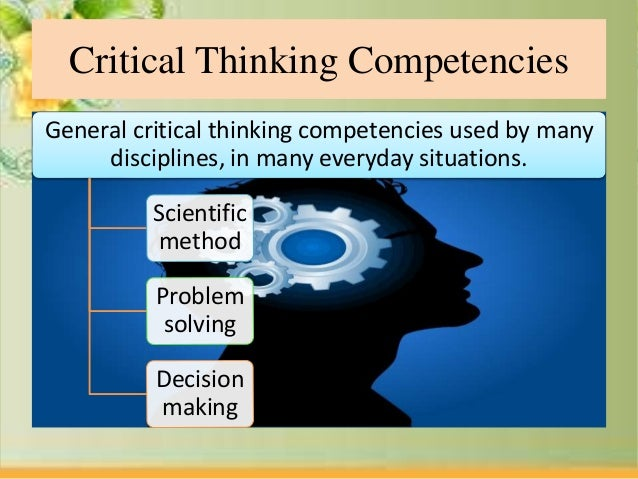 critical thinking competency framework