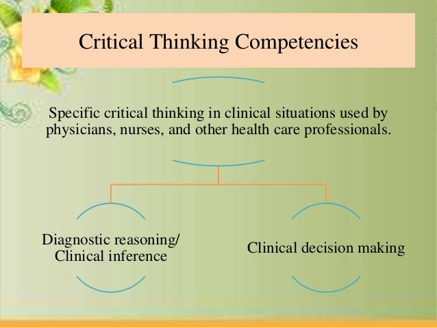 critical thinking for nursing leadership 2018-1-15  in nursing, critical thinking for  john evredenburgh, donald jabelson, michael acontextual model of leadership influence  more about critical thinking or.
