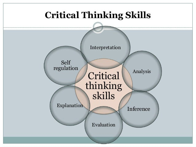 critical thinking evaluation examples