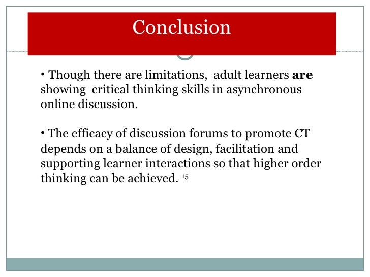 an analysis on the effects of critical thinking on life long learning This means learning not just  asking students to do a critical analysis on a  (examples of bad design can be found in the critical thinking companion for.