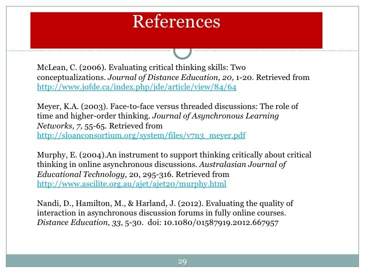 critical thinking skills journal articles Strategies for teaching students to think of a measure of critical thinking skills in biology journal of research for teaching students to think critically.