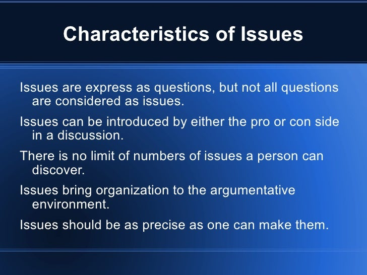 Critical Thinking Issues, Analysis and Contentions