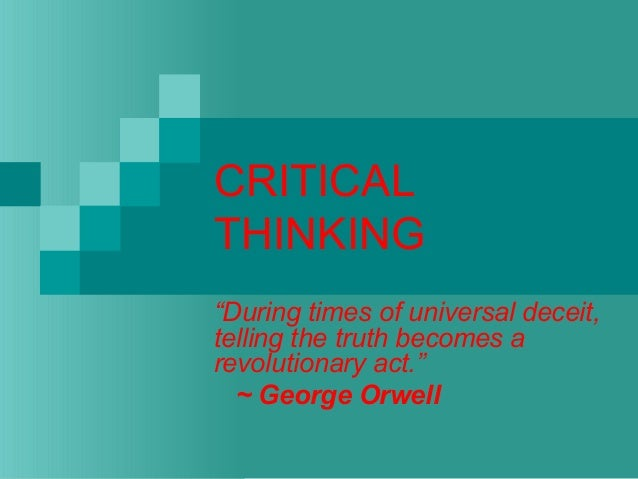 introduction to critical thinking ppt Developing army leaders how effective is the common core — the first phase of the us army's system for developing critical thinking skills in introduction.