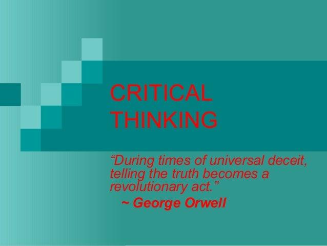 Critical thinking powerpoint presentation