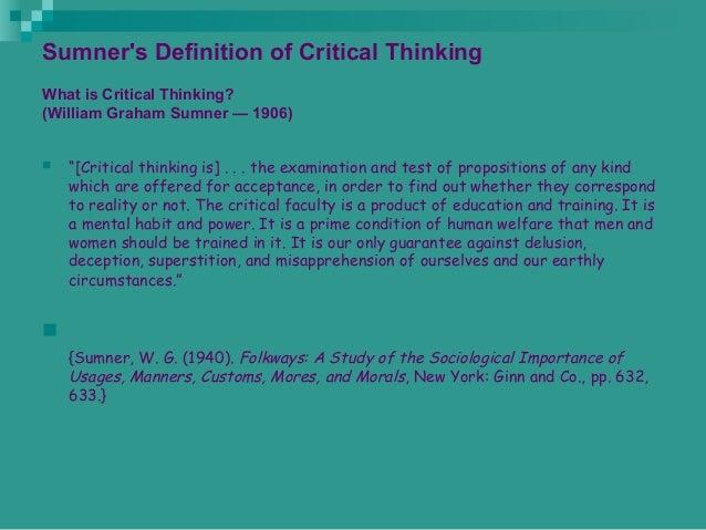 Ennis critical thinking assessment