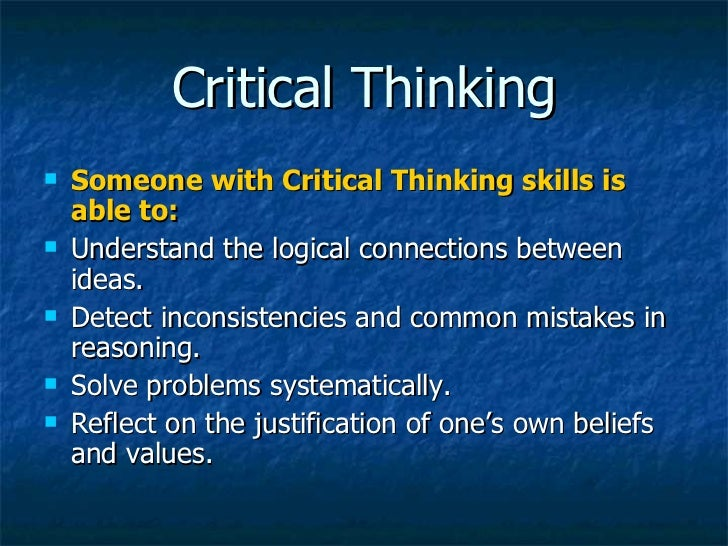 three steps to critical thinking 7 critical reading strategies skip to main content a maryland university of national distinction salisbury university  as a critical reader,.