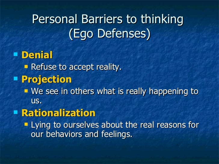 personal barriers to critical thinking