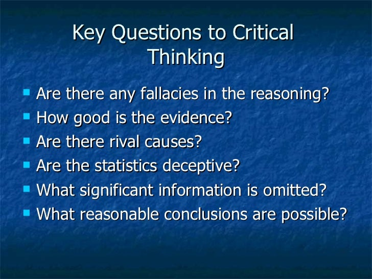 critical thinking reasoning questions What's behind every healed patient critical thinking and what book best equips you to master the critical thinking skills needed for success on the nclex examination and in professional nursing practice alfaro's critical thinking, clinical reasoning, and clinical judgment, 6 th edition with a.