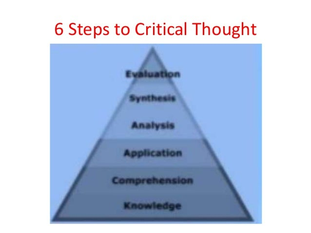 5 steps to critical thinking The 5 steps of critical thinking step 1: knowledge for every problem, clear vision puts us on the right path to solve it this step identifies the argument or the .