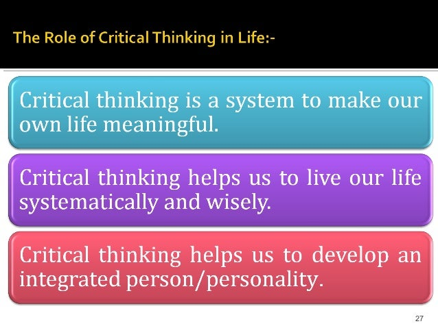 Best way to learn critical thinking skills