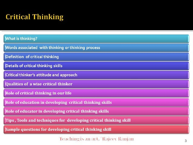 Techniques in Critical Thinking