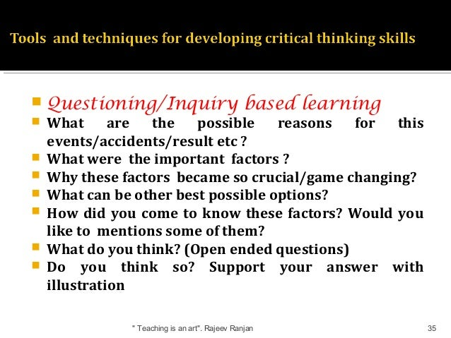 how to develop critical thinking skills through tutoring