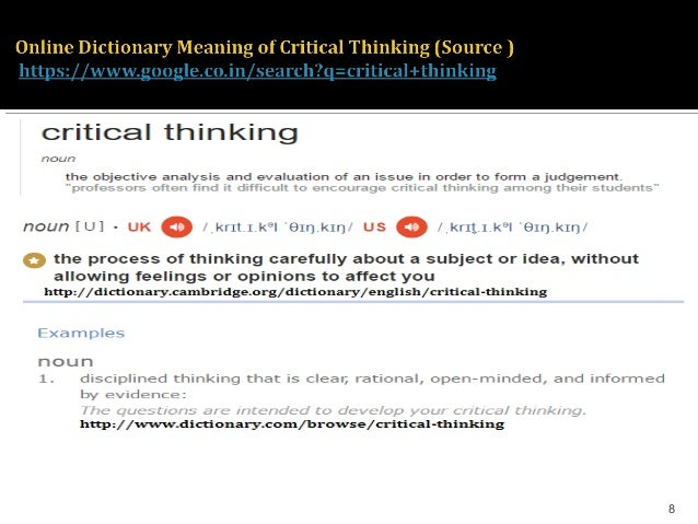 critical thinking urban dictionary What does gook mean in urban dictionary: however some may take as a critical racial slurthe record as gooks for short term thinking it had been a.