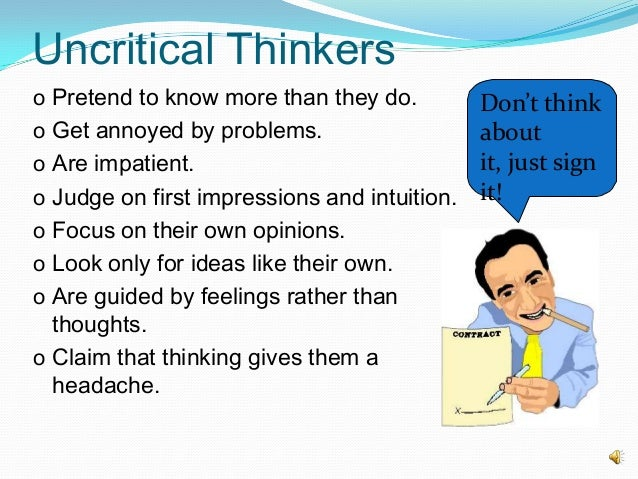 critical thinking and leadership skills