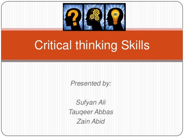 Creative and Critical Thinking - PowerPoint PPT Presentation