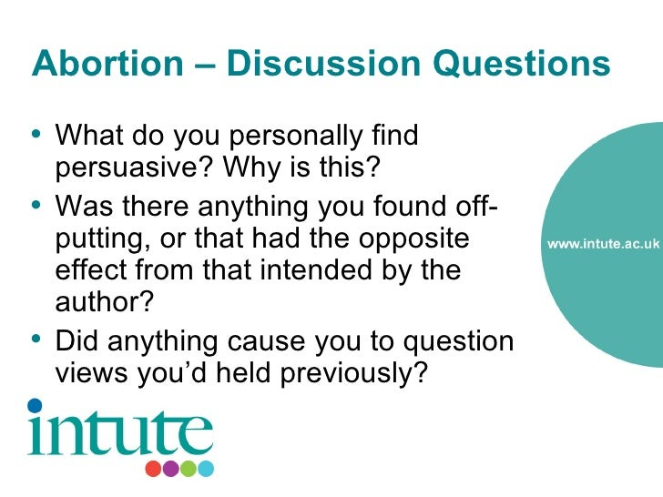 abortion questionnaire Questionnaire design reproductive health epidemiology series module 4 2003  questionnaire design is a cornerstone of epidemiologic methods,.