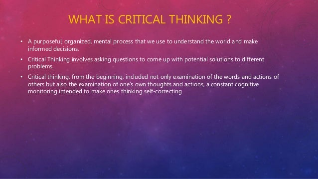 A Brief History of the Idea of Critical Thinking