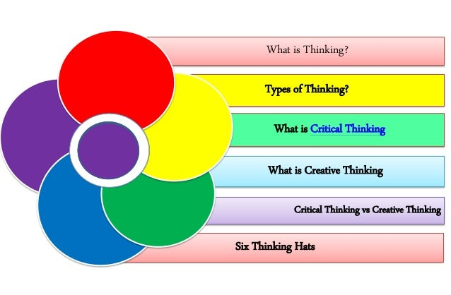 Creative thinking and critical thinking differences