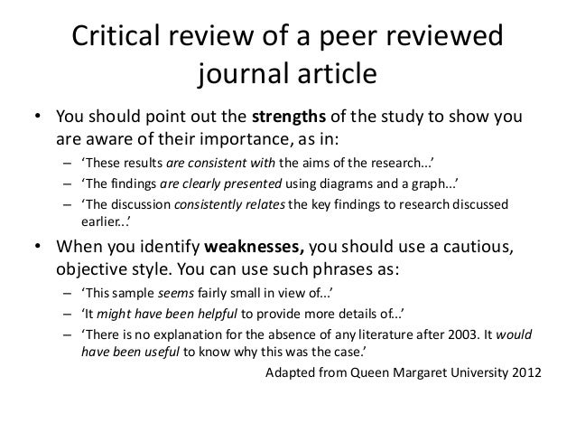 how to review a journal article pdf