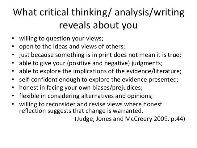 critical thinking and analytical writing skills