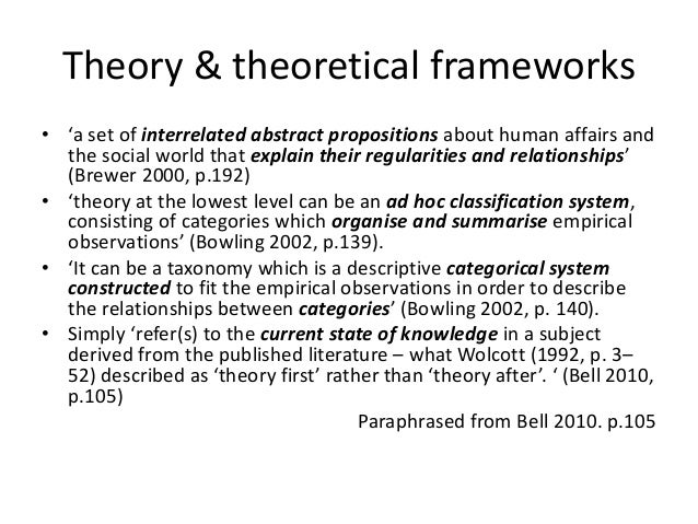 Theoretical Framework Essays (Examples)