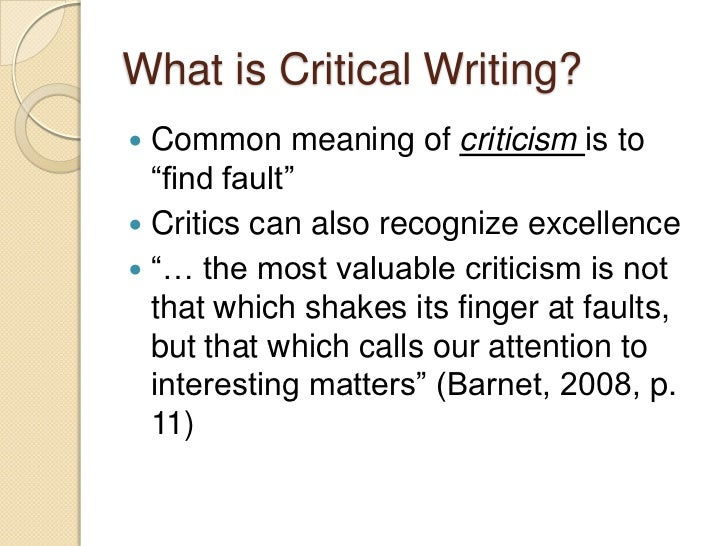 critical thinking analysis paper 1 how to write a critical analysis paper the purpose for writing a critique is to evaluate somebody's work (a book, an essay, a movie, a painting prepare by reading all material thoroughly and thinking about some of the different issues raised in your reading 2.