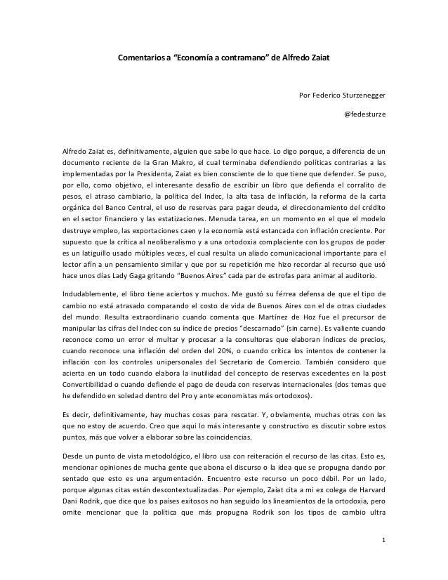 """Comentariosa""""Economíaacontramano""""deAlfredoZaiat                                                                  ..."""