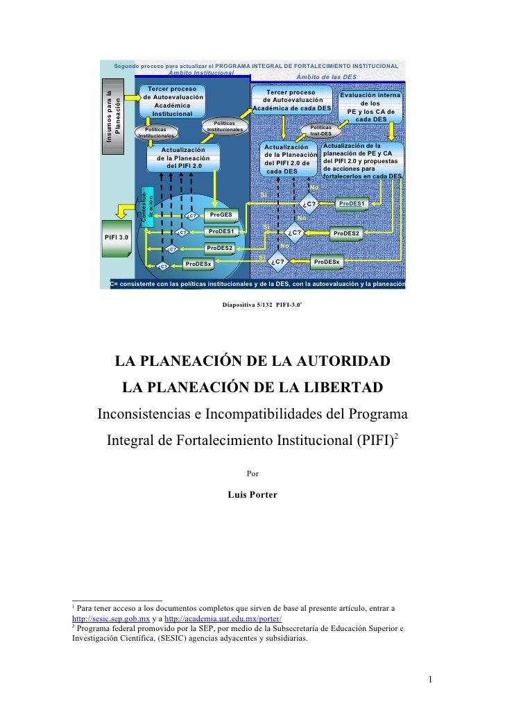Segundo proceso para actualizar el PROGRAMA INTEGRAL DE FORTALECIMIENTO INSTITUCIONAL                                     ...