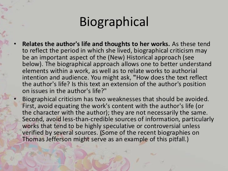 biographical analysis essay Essays related to biography 1 the purpose of a biography the purpose of a biography is to report on a person's life in an informative and entertaining manner.
