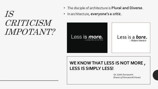 Criticizing Architecture