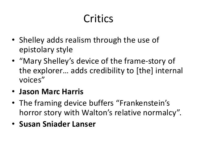critics frankenstein critics • shelley