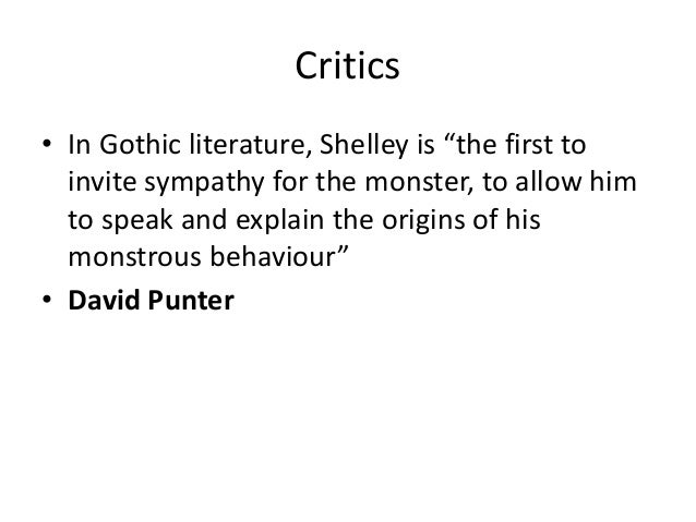 In what ways does Shelley's Frankenstein conform to the gothic style?