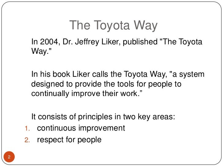 book review toyota way The toyota way is the first book for a general audience that explains the management principles and business editorial reviews toyota is the world's most.