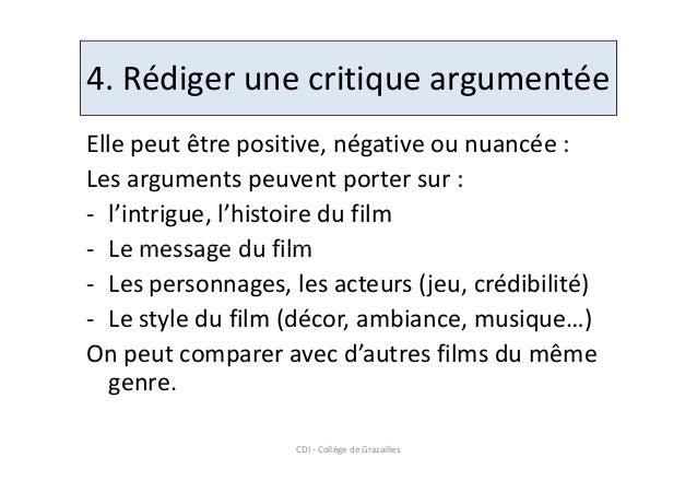 critique de film en anglais
