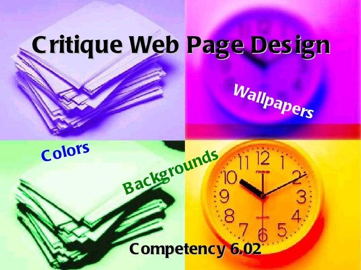 C ritique Web Page Des ign                                   Wal                                       lp   ap e          ...