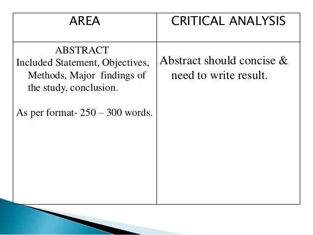 how to write a critique of a presentation