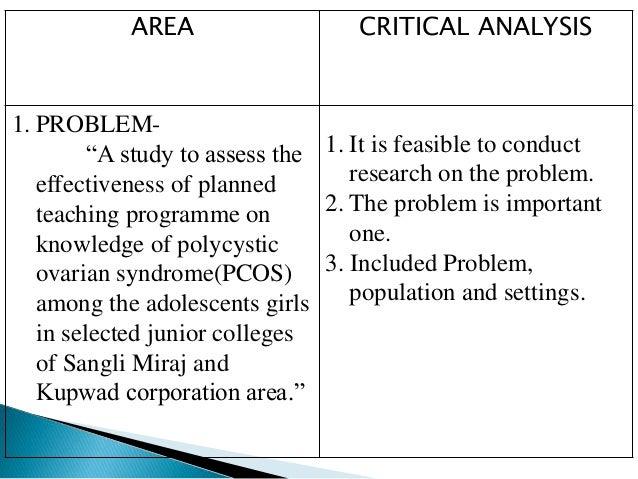 critique analysis
