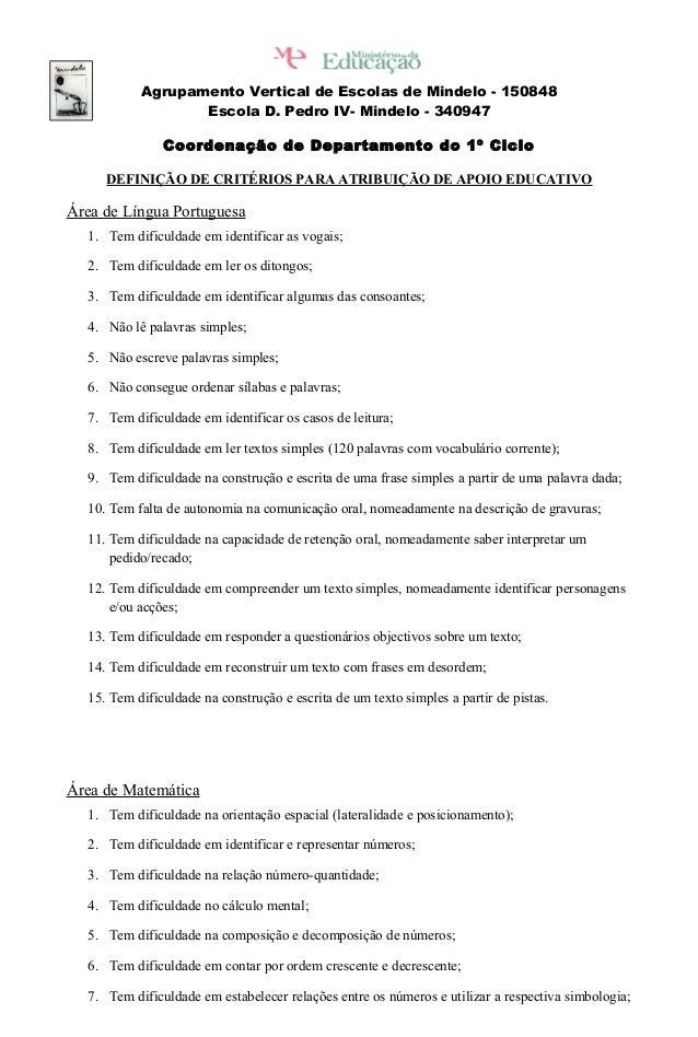 Agrupamento Vertical de Escolas de Mindelo - 150848 Escola D. Pedro IV- Mindelo - 340947 Coordenação de Departamento do 1º...