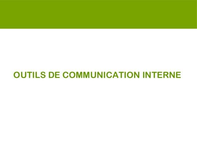 OUTILS DE COMMUNICATION INTERNE