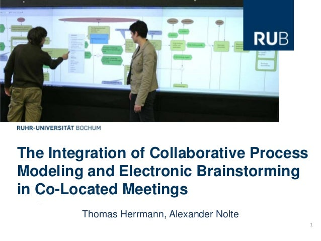 The Integration of Collaborative ProcessModeling and Electronic Brainstormingin Co-Located Meetings        Thomas Herrmann...