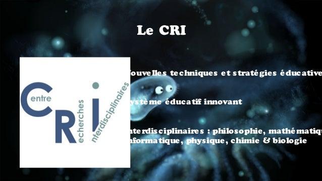 CRI WSFlab Slide 2