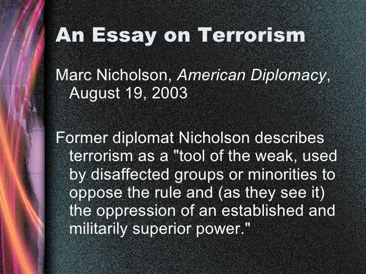 how to avoid terrorism essay