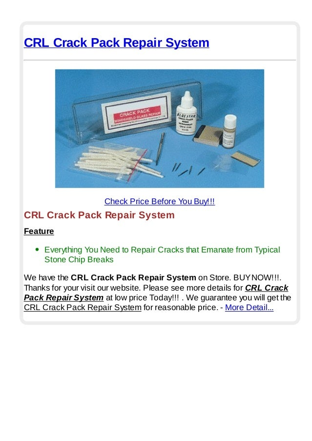 CRL Windshield Repair System 12 Pack