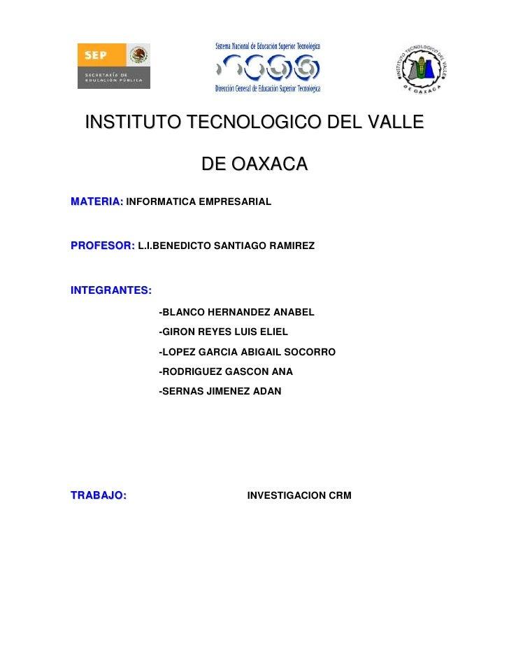 4953000-2286002209800-254000114300-228600<br />INSTITUTO TECNOLOGICO DEL VALLE DE OAXACA<br />MATERIA: INFORMATICA EMPRESA...
