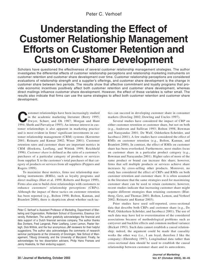 Marketing Management Session on CRM