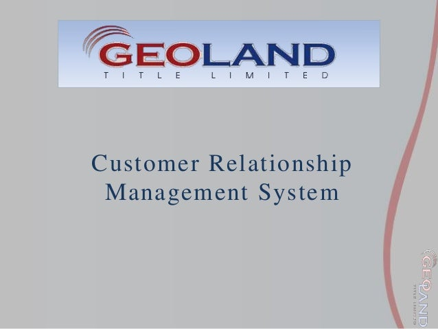 customer relationship management system pdf