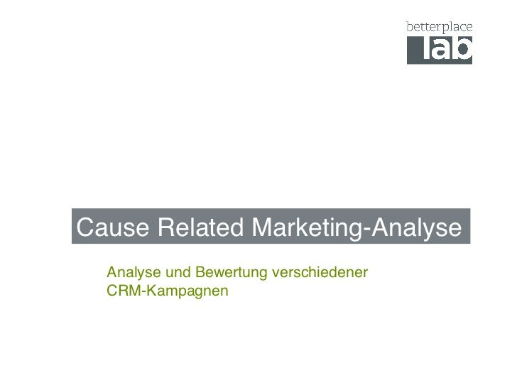 Cause Related Marketing: Kampagnen im Test