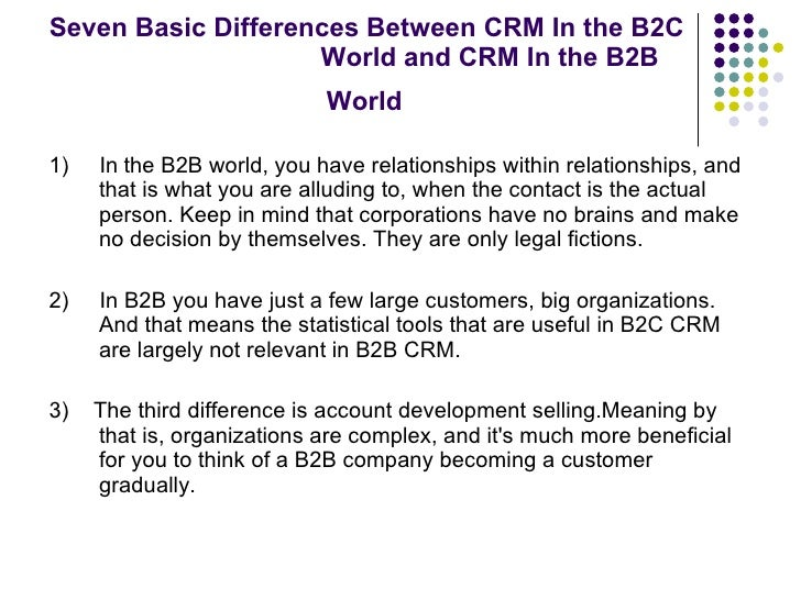 importance of crm in b2b markets
